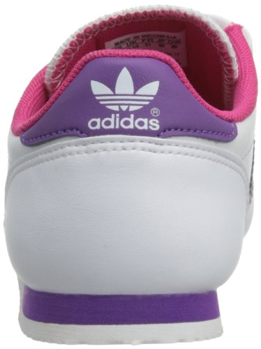 adidas Originals Dragon Cf C - Zapatillas de Deporte de tela Infantil Blanc (Running White/Ray Purple/Pink)