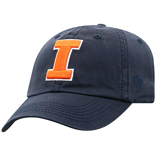 (Illinois Fighting Illini Adult Adjustable Hat, Navy)