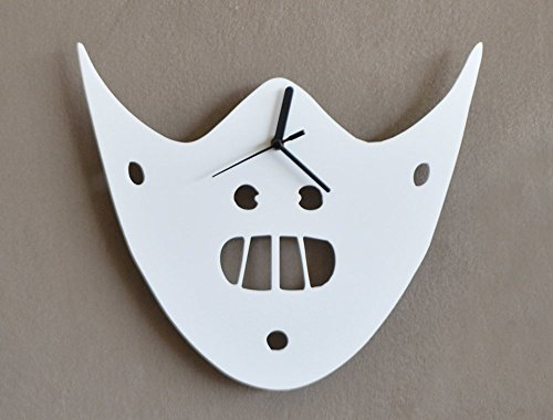The Silence of the Lambs - Hannibal Mask - Minimalist Film Silhouette - Wall Clock ()