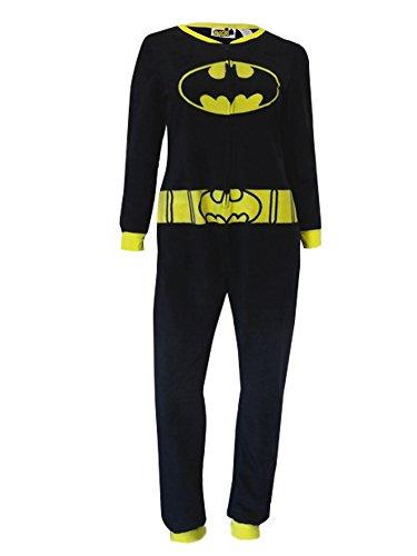 girl Pajamas Fleece Batman Blanket Sleeper Union Suit Medium Black ()