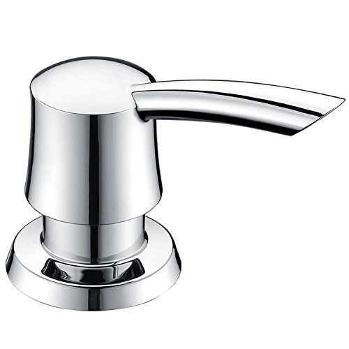 KVADRAT Chrome ABS Plastic Pump Sink Soap Dispenser,320 ML Liquid Plastic Clear Bottle Refillable From Top For Kitchen & Bathroom by KVADRAT