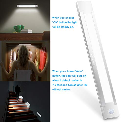 URPOWER Motion Sensor Light, Rechargeable Closet Light Wireless Motion Sensor LED Night Light Stick-Anywhere Motion Sensor Closet Lights Stick up Wall Lights for Closet Bathroom Hallway (Cool White) by URPOWER (Image #3)