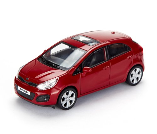 [Hyundai Toys Collation] Mini Car 1:38 Scale Unique Miniature Diecast Model 1-pc Set For 2012 2013 2014 Hyundai Rio : All New Pride (Red)