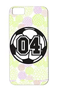 TPU 04 Soccer Raster 2 Color TAS Sports Soccer Sports Number Ball Raster Football For Iphone 5c Shock-absorbent White Protective Case