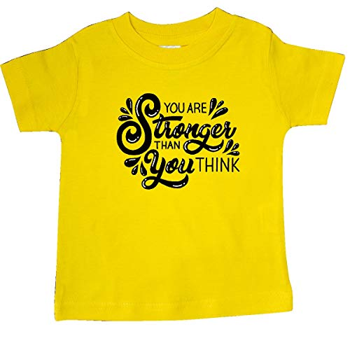 inktastic - You are Stronger Than You Think Baby T-Shirt 24 Months Yellow 361f4