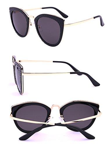 Mode Lunettes Frame soleil Lunettes Big de de Driver Ms Mirror Couleur Noir Anti soleil Lunettes Noir UV wwx1gqBz