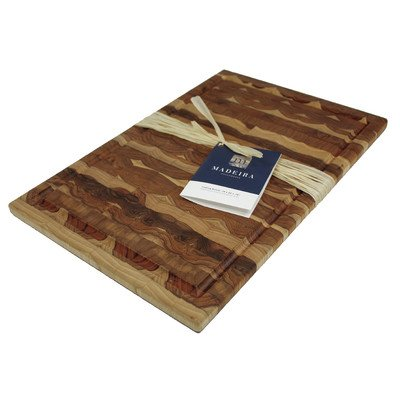 Large Grain End (Madeira 1030 Canary Teak End-Grain Carving Board, Large)