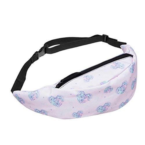 Outsta Fashion Sports Chest Bag,Print Hiking Running Belt Wa