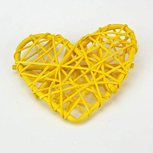 Laz Tipa - 10PCS/Lot 10CM New Arrival Heart Sepak Takraw For Christmas Birthday Party & Home Wedding Party Decoration Rattan Ball 10 Colors