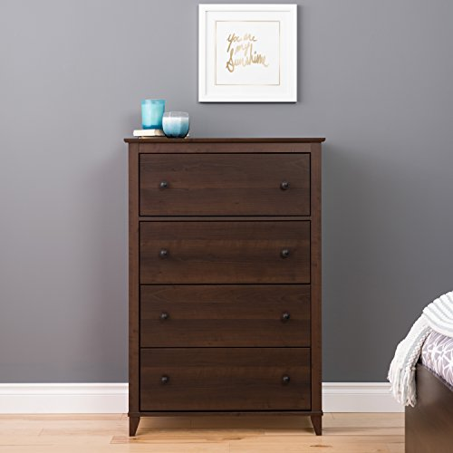 Prepac Yaletown 4 Drawer Chest, Espresso (Prepac Large Four)