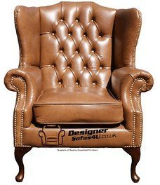designer sofas4u chesterfield mallory high back wing chair uk
