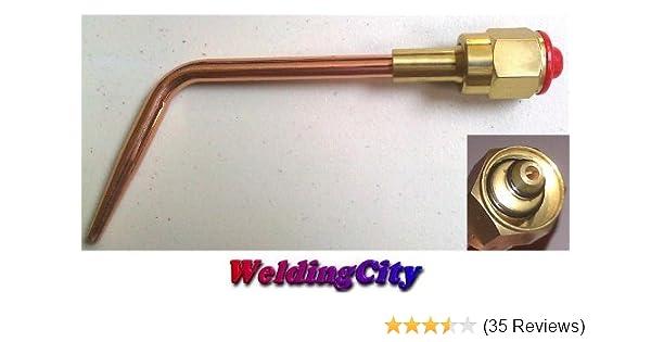 WeldingCity Acetylene Welding Brazing Nozzle Tip 0-W-1#0 with W-1 Mixer for Victor 100 Series Handles