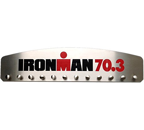 IRONMAN 70.3 – 12 Peg Medal Hanger Display by Blue Diamond Athletic Displays