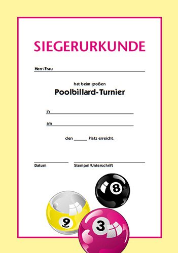 Certificado pool-billard Billardscene