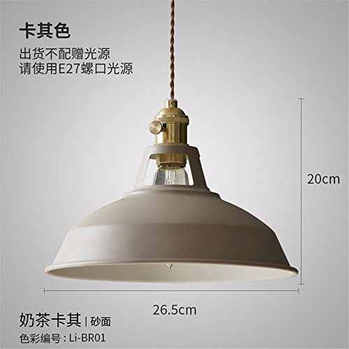Modern Chandelier,Suitable for: Hotel, Living Room, Dining Room.Retro Lights Single Bedroom Living Room Bed Khaki lid Small - Small Khaki Bed