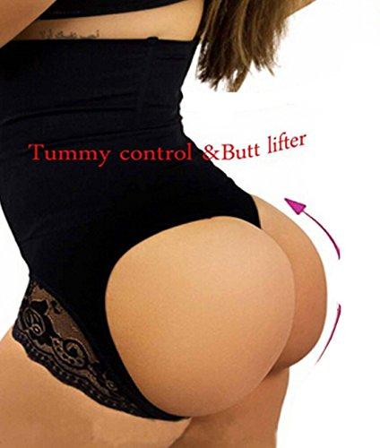 boy shorts underwear for women butt enhancer panties butt enhancer hip body shaper panty for women (2XL, Black)