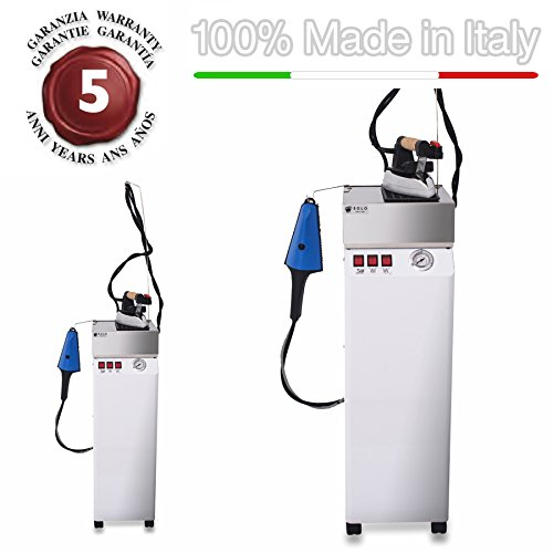 EOLO Steam generator with double attachment for steam brush and iron with energy saving copper boiler and external anti-scale heating element AV01 RA - 230 Volts (On demand before order 110-120 Volts) by EOLO H&P
