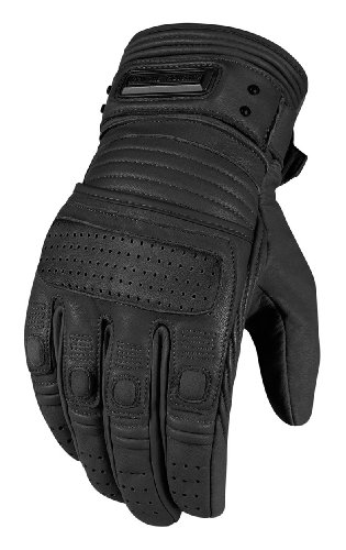 Icon One Thousand Beltway Gloves , Gender: Mens/Unisex, Distinct Name: Black, Primary Color: Black, Size: Lg, Apparel Material: Leather 3301-1874