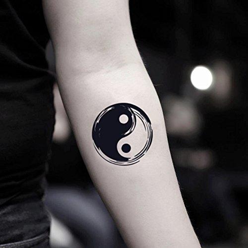 Yin Yang Temporary Fake Tattoo Sticker (Set of 2) - TOODTATTOO.COM ()