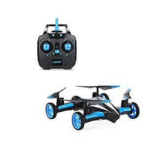 Physport Flying Car RC drone Quadcopter without Camera Vehicles Remote control Car Headless Mode with LED Lights (Blue)