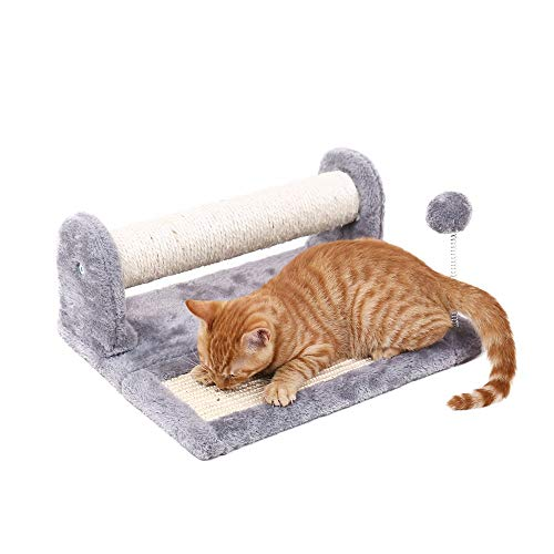 Speedy Pet Cat Scratching Post and Pad, Sisal-Covered Scratch Posts and Pads with Play Ball and Carpet Covered for Kittens, Cats