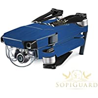 SopiGuard Brushed Blue Precision Edge-to-Edge Coverage Vinyl Skin Controller Battery Wrap for DJI Mavic Pro