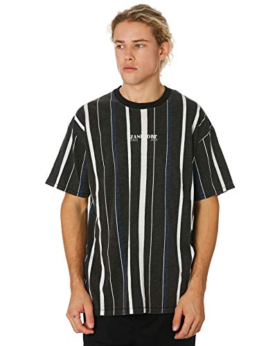 Deco Milk - Zanerobe Men's Deco Box Tee, Black/Milk, Large