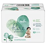 Pampers Pure Protection Diapers Size 3, 60 Count, packaging may vary