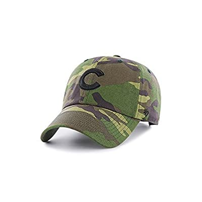 Chicago Cubs 47 Brand Unwashed Camo Clean Up Slouch Fit Hat