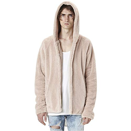 Fashion for Double Beige Top Loose Coats Sided Men Coat Plush Men's Casual Give Autumn Winter koiu❀❀Waterproof Hoodie wvxBEaBfqI