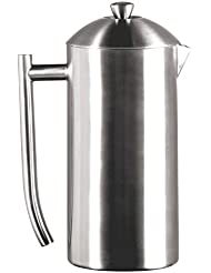 Frieling USA Double Wall Stainless Steel French Press Coffee Maker with Patented Dual Screen, Brushed 36-Ounce