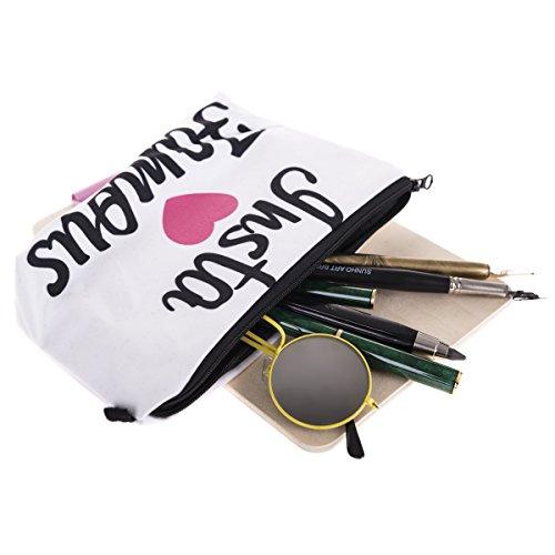 Kosmetiktasche Make Up Täschchen Mäppchen Federtasche Handytasche Full Print All Over Bag Aufbewahrungstasche Emoji Black [009] Insta Famous LUHNcxC