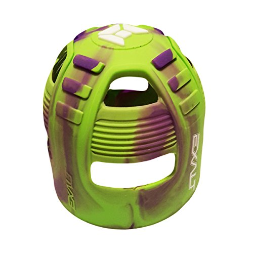 Exalt Paintball Tank Grip - 45-88ci - Lime / Purple Swirl (Exalt Tank Paintball Grip)
