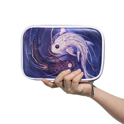 WXLIFE Chinese Yinyang Fish Tai Chi Multi-Functional Zippered Cosmetic Bags Travel Pouch Bag Makeup Passport Holder Storage Pencil Case Pen Bag for Kids Boy Girls School ()