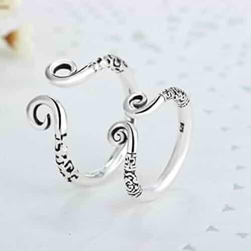 b57fb48ef452cd s925 Sterling Silver Rings for Men Women Monkey Magic Spell Rings Couple  Lover Silver Rings Thai