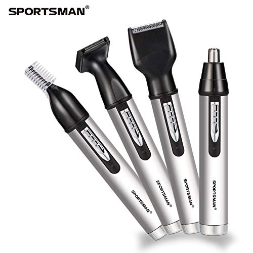 Electric shaver - Nose Hair Trimmer 4 in 1 Rechargeable Male Electric Shaver For Men Sideburn Trimmer Clipper Razor Hair Cutting Set