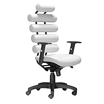 Amazon.com: Zuo Unico Office Chair, White: Kitchen & Dining