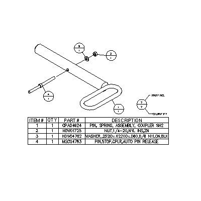 Boss Part # MSC04675 – PIN KIT,COUPLER SPRING,RT3,SH2