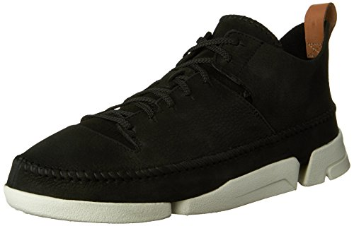 Clarks 26107366, Sneaker uomo bianco White Leather Black