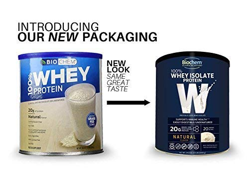 Biochem Ultimate 100 % Whey protein, Natural, 24.6-Ounce Can by Biochem (Image #2)