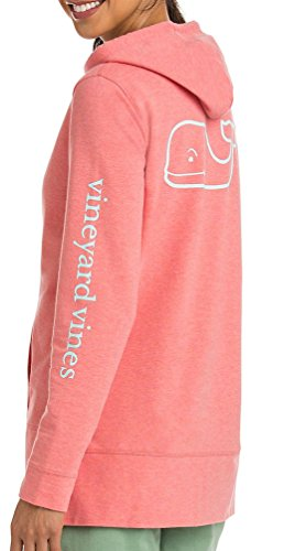 Vineyard Vines Womens LS Whale French Terry Hoodie Sweatshirt 2K1118-662 Blush (Small) by Vineyard-Vines Clothing