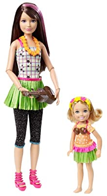 Barbie Sisters Hula Dance Skipper And Chelsea Doll 2-pack from Mattel