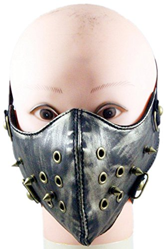 Qiu ping Men and women new retro punk matte to do the old Gothic mask warm spike mask by Qiu ping