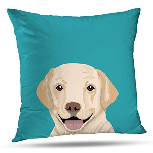 - ONELZ Sweet Lab Dog Square Decorative Throw Pillow Case, Fashion Style Zippered Cushion Pillow Cover (16X16 inch)