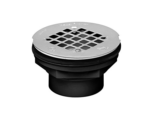 Oatey 42086 101 Ps Shower Drain, 2 in, Solvent Weld, Abs Plastic, 2-Inch, Black
