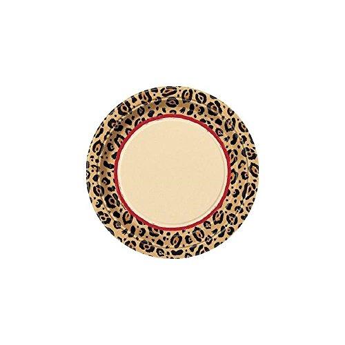 Cheetah Animal Print Large Plates