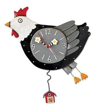 Allen Designs Flew the Coop Chicken Pendulum Clock