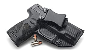 Concealment Express IWB KYDEX Holster: fits Taurus 111/140 Millennium G2 & G2C (CF BLK, RH) - Inside Waistband Concealed Carry - Adj. Cant/Retention - US Made