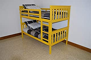 product image for Amish Kids' VersaLoft Twin Bunk Bed with Ladder, Low VOC Yellow Paint