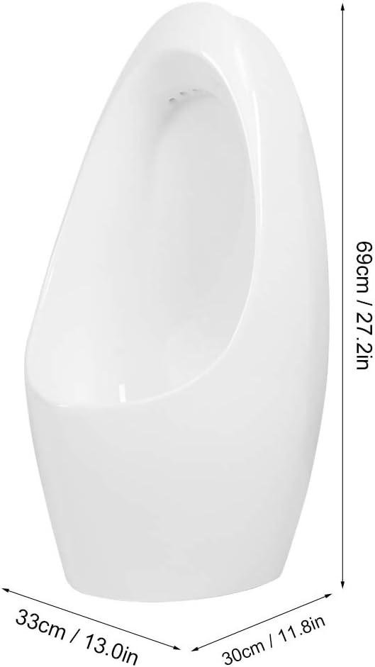 AYNEFY Wand Urinal Zulauf Oben Hochwertig Keramik Pinkelbecken Modern Sp/ülrand Pissoir mit Siphon Badezimmerzubeh/ör f/ür Toilette Badezimmer Bad WC 69 x 30 x 33 cm wei/ß